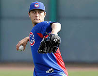 Yu Darvish shows range in debut for Cubs, clocks 95 on