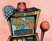 Editorial Illustration: Cancer Research Slot Machine