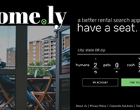 Home.ly rental app concept