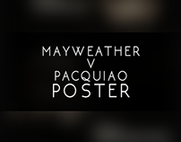 Mayweather v Pacquiao Poster