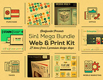 5in1 Mega Bundle v.20: Web & Print Kit