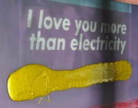 I love you more than electricity / free silkscreen