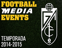 Grafismo videomarcador Granada C.F. Temporada 2014-15