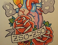 Zso Zso's Sacred Heart Tattoo