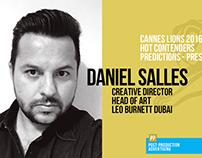 Daniel Salles - Predictions Cannes 2016 - Press