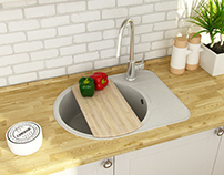 Kitchen sinks design for Fosto company