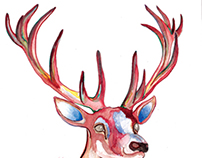 Stag Watercolor