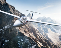 CGI-Sailplane in the Alps