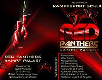 Flyer for Red Panthers Kampf Palast (Kampsportschule)
