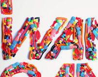 I Want Candy Experimental Typography 2009