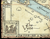 Tolkien inspired map for The Vyne