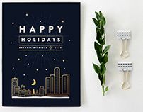 Holiday Card - Nighttime in the City