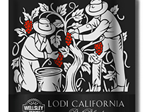 Wellsley Farms Wine Labels Illustrated by Steven Noble