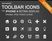 Toolbar Icons for iPhone 4 Retina Display