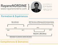 CV Rayane Nordine
