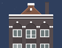 Amsterdam's Buildings Illustration