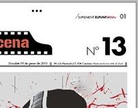 Diseño editorial, suplemento periódico.