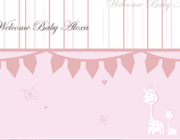 Baby Shower Media Wall Background