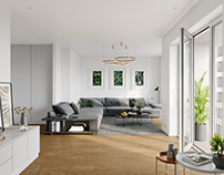 CGI: Residential apartments in Berlin, Germany