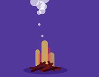 Roasting Marshmallow Animation