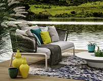 Roda outdoor furniture render