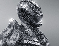 Alien armor bust