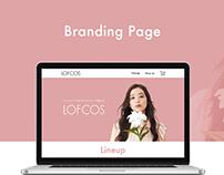 LOFCOS | Landing page, Branding page|ロフトオリジナルコスメ「ロフコス」