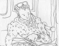 Sketch Book - People travelling on the tube