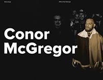 Conor McGregor personal website - redesign concept