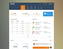 Dashboard template design 3 variations