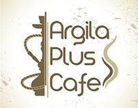 Argila Plus Cafe logo design and identity
