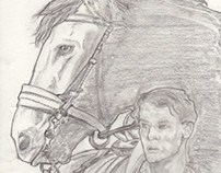 War Horse. Commissioned Piece-Drawing for a Friend