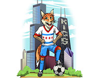 Kids International Chicago Soccer Logo & Mascot Design