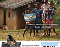TOMS Shoes Magazine Advertisement