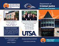 UTSA Department of Criminal Justice Brochure