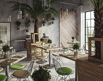 Industrial Restaurant - Full CGI