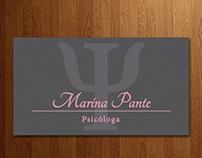 Cartão de Visita - Psicóloga Marina Pante
