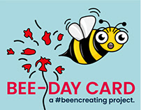 Bee Birthday Card - Design