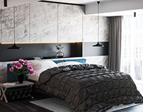 Dark bedroom interior style