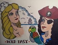 Sea Women Tattoo Flash