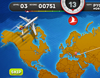 Turkish Airlines 200+ Map Game Design