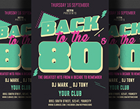 80s Retro Party Flyer Template