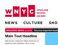 WNYC Redesign