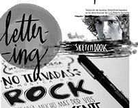Lettering sketchbook - Luis Alberto Spinetta
