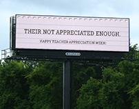 Teacher Appreciation Week Billboards