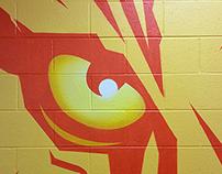 Sewanee eye of the tiger mural