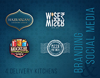 4 Delivery Kitchens | Branding & Social Media