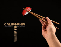 Identity and VIS for the restaurant CALIFORNIA