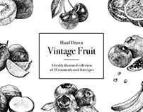 Hand-Drawn Vintage Fruit