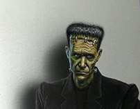 Halloween Drawing: The Monster of Frankenstein